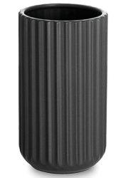 lyngby vase 15 cm mat sort - lyngby by hilfling vasen - Til Boligen