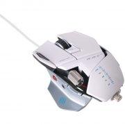mad catz r.a.t. 5 gaming / gamer mus - hvid - Hardware Og Tilbehør