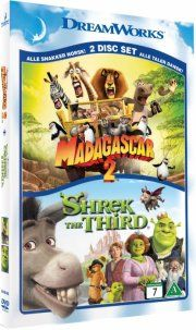 madagascar 2 / shrek den tredje - 2-pack - DVD