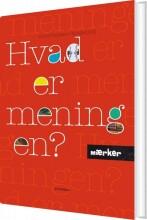 mærker - hvad er meningen? - bog