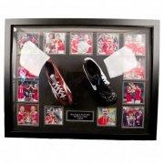 manchester united merchandise - giggs og scholes fodboldstøvler med autograf - Merchandise