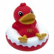 manchester united merchandise - rød gummiand / badeand - Merchandise