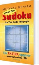 mange flere sudoku - med 3d opgaver - bog