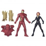 marvel - iron man and black widow figure (b6143) - Figurer