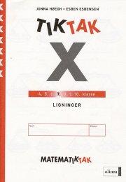 matematik-tak 7.kl. x-serien, ligninger - bog