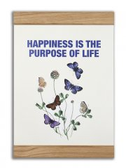 message earth plakat med ramme - happiness is the purpose of life - Til Boligen