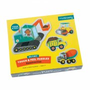 mudpuppy baby puslespil - 4 x 3 brikker - maskiner - Brætspil