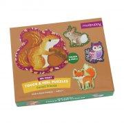 mudpuppy baby puslespil - 4 x 3 brikker - skovens dyr - Brætspil
