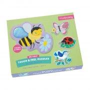 mudpuppy baby puslespil - 4 x 3 brikker - dyr i haven - Brætspil