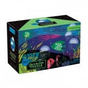 mudpuppy - selvlysende puslespil, 100 brikker - under havet - Brætspil