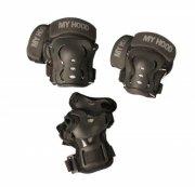 skater beskyttelsesudstyr - knæ-, albue- og håndledbeskyttere - large / 15+ år - my hood - Udendørs Leg