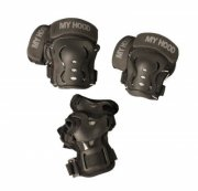 skater beskyttelsesudstyr - knæ-, albue- og håndledbeskyttere - small / 8-11 år - my hood - Udendørs Leg