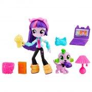 my little pony - equestria girls - twilight sparkle mini doll - slumber party (b6359) - Dukker