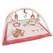 aktivitetstæppe / legetæppe til baby - nattou - rød - Babylegetøj