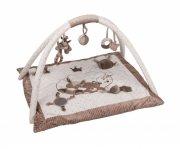 aktivitetstæppe / legetæppe til baby - nattou - beige - Babylegetøj