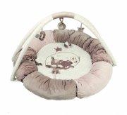 aktivitetstæppe / legetæppe til baby - rund - nattou - Babylegetøj