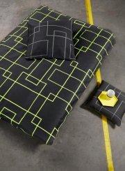 neon living sengetøj / sengesæt - 200 x 200 cm - grå/gul - Til Boligen