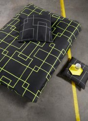 neon living sengetøj / sengesæt - 200 x 220 cm - grå/gul - Til Boligen