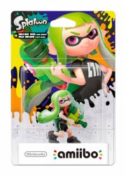 nintendo amiibo figurine - green girl (splatoon collection) - Figurer