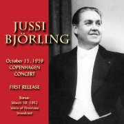 jussi bjorling - october copenhagen concert 15, 1959 - cd