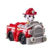 paw patrol - basic vehicle with pup - marshall - Figurer