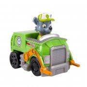 paw patrol - basic vehicle with pup - rocky - Figurer