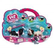 pet parade - border collie og mops - twin puppy pack - Figurer
