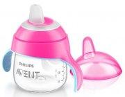 philips avent - babykop med drikketud - 200ml - pink - Babyudstyr