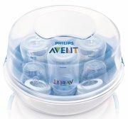 philips avent sutteflaske dampsterilisator til mikrobølgeovn - 4 flasker - Babyudstyr