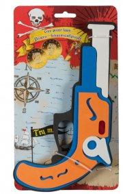 pirat pistol m. lyd b/o  - Legetøjsvåben