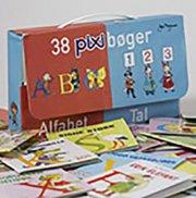 pixi-alfabetet og pixi-tal i kuffert - bog