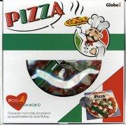 pizza - boks, med pizza-skærer - bog