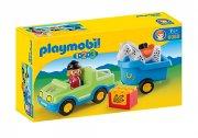 playmobil 123 bil med hestetrailer - 6958 - Playmobil
