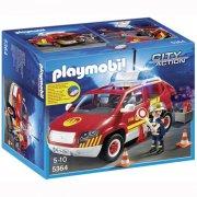 playmobil - brandchefs bil med lys og lyd - Playmobil