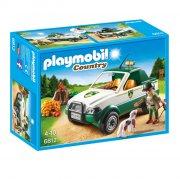 playmobil - skov pick up truck - 6812 - Playmobil