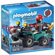 playmobil - bandit og atv med spil (6879) - Playmobil