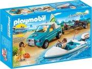 playmobil - surfer pickup med speedbåd - Playmobil
