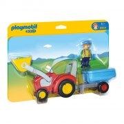 playmobil - traktor med trailer - 6964 - Playmobil