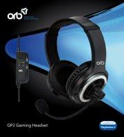 playstation 3 - gp2 gaming headset - orb - Konsoller Og Tilbehør