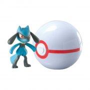 pokemon - clip 'n' carry poké ball - riolu + premier ball - Figurer