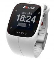 polar m400 løbeur - gps ur inkl h7 hrm pulsbælte - hvid - Sportsudstyr