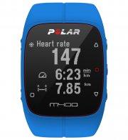 polar m400 løbeur / pulsur - gps ur inkl h7 hrm pulsbælte - blå - Sportsudstyr