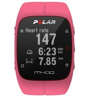 polar m400 løbeur / pulsur - gps ur inkl h7 hrm pulsbælte - lyserød - Sportsudstyr