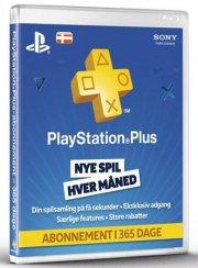 playstation plus - 1 år - playstation 3 / ps4 / ps vita - Konsoller Og Tilbehør