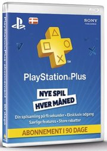 playstation plus - 3 måneder - playstation 3 / ps4 / ps vita - Konsoller Og Tilbehør