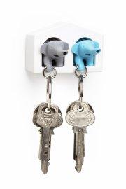 qualy nøgleholder / nøglehus - elefant nøgleringe - grå/blå - Til Boligen