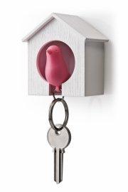 qualy nøgleholder / nøglehus - fugle nøglering - pink - Til Boligen