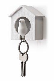 qualy nøgleholder / nøglehus - fugle nøglering - hvid - Til Boligen