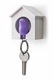 qualy nøgleholder / nøglehus - fugle nøglering - lilla - Til Boligen