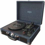 rejsegrammofon - bluetooth pladespiller med indbygget højtaler - denim - Tv Og Lyd